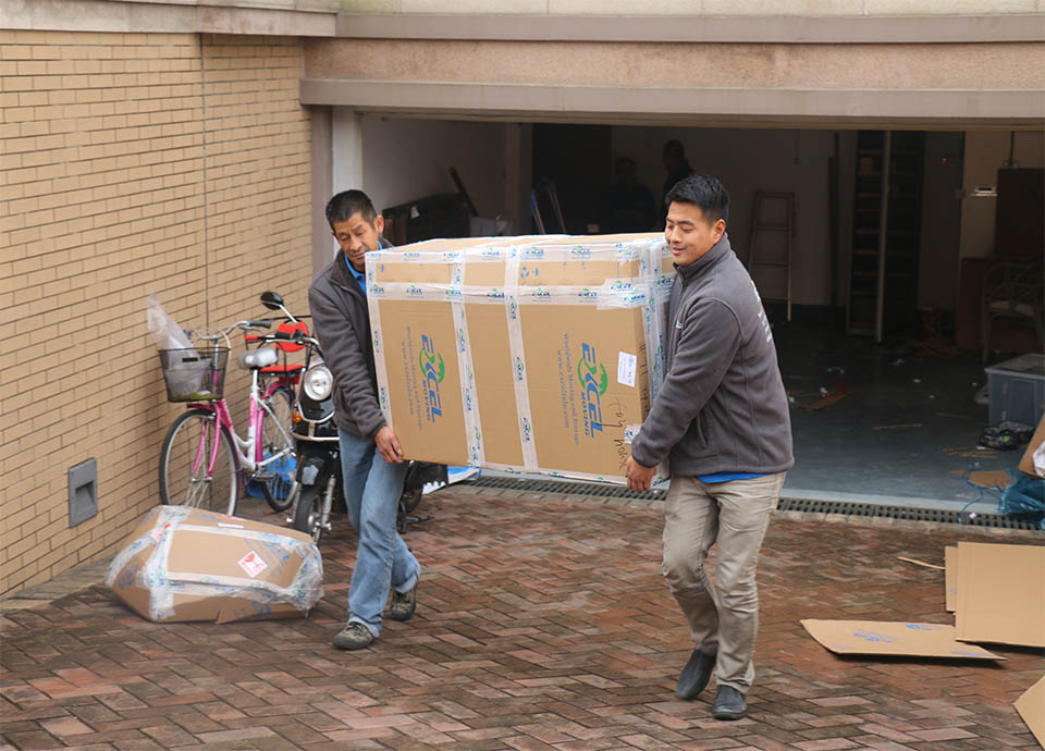 Moving Packages onto the Truck